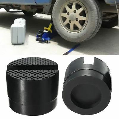 2 X Universal Trolley Floor Jack Disk Rubber Pad For Pinch Weld Side Jackpad New