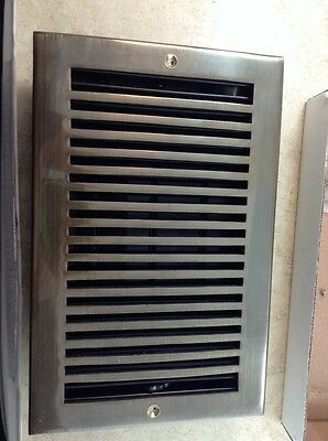 WHITTINGTON Solid Brass Floor Register 6 X 10 Antique Louvers Vent Cover