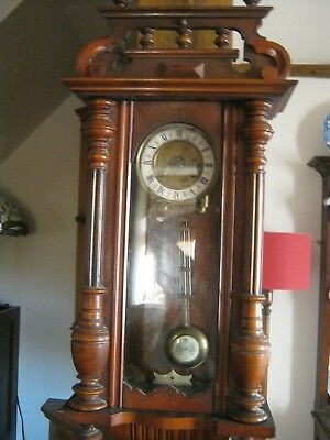 vienna style wall clock good working order horse top final llanelli swansea area