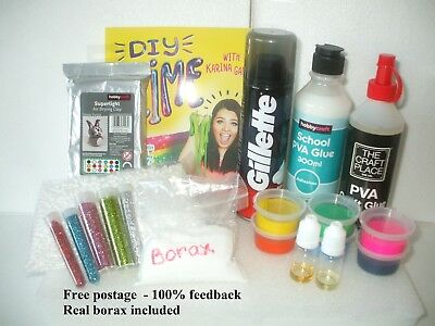 100% Borax Slime Making Kit - Sent same day 1st Class - REAL BORAX INCLUDED