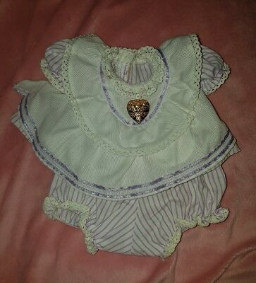 ♡ Mattel My Child ♡ Original Purple Pinny Outfit ♡ (Set #2) ♡ + Rep Locket ♡ EC
