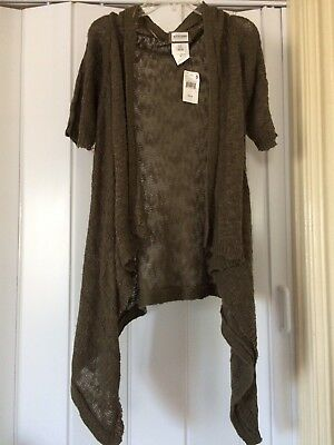 NWT Motherhood Maternity Green Cover up Cardigan Knit Size Small