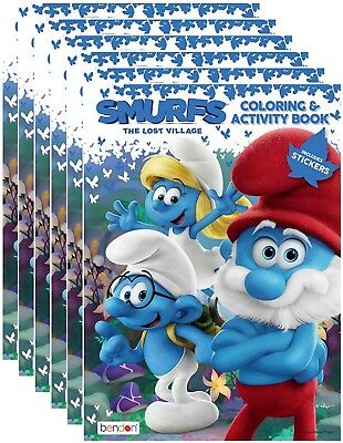 NEW Smurfs The Lost Village Coloring And Activity Book With Stickers Pack Of 6