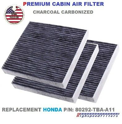 4-Pack Replacement Cabin Air Filter for 2011 Toyota SEQUOIA V8 4.6L 4608cc Car/Automotive Activated Carbon ACF-10285