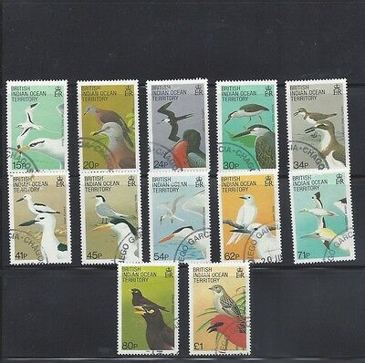 British Indian Ocean Territory 94 To 105 Mh Complete Birds Set To 50% Catalog Pr