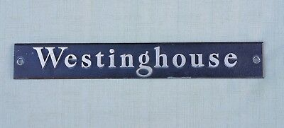 Antique Vintage 12 Inches  Westinghouse Rare Sign Plaque Name Plate Logo