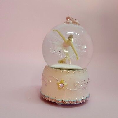 EXQUISITE Musical Ballerina Snow Dome Baby Shower Christening Birthday Keepsake
