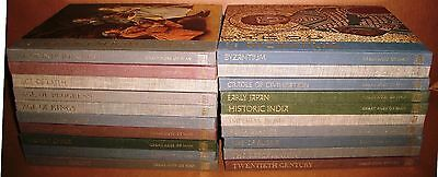 Time-Life Great Ages Man Byzantium Russia Renaissance Japan Europe 20 lot HC HB