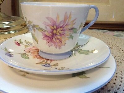 Excellent vintage Shelley chrysanthemum china trio cup saucer plate