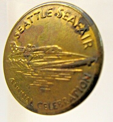 1960s MISS EXIDE SEATTLE SEAFAIR University Parking token Hydroplane Boat racing