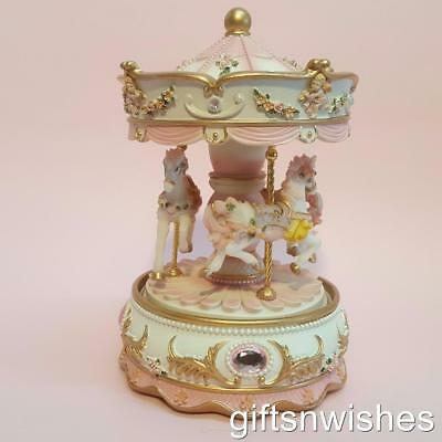 EXQUISITE Musical Carousel LED Coloured Lights Baby Shower Christening Birthday