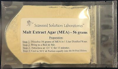 Malt Extract Agar (MEA) 56 grams - Great For Growing Mushrooms! - Yields 1 Liter