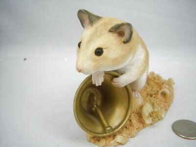 """Lenox Country Artists Jingles The Hamster Figurine Resin Large 4"""" tall No Box"""