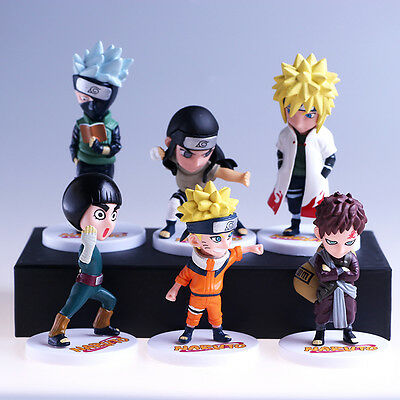 naruto 6pcs set pvc figure doll collection 3D model figures ANIME toy NEW