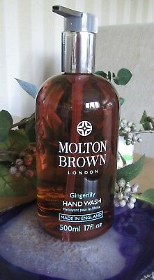 Molton Brown London Gingerlily Hand Wash 500ml ½ Litre SUPERSIZE Nov 2017 Stock