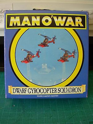 Fantasy Man o'War Dwarf Gyrocopter x 3 in Original Box Rare OOP