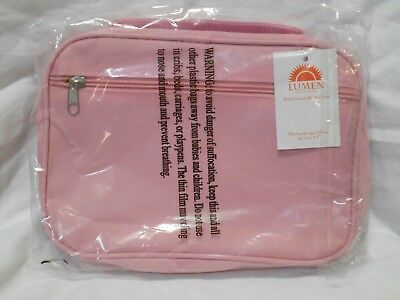 Lumen Bible Cover      Pink      Poly Canvas     Up To 6 X 9      NEW