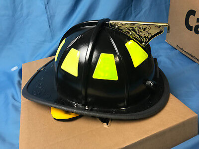 MSA Safety 1044DSB Cairns 1044 Traditional Composite Fire Helmet with Defende...