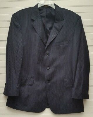 Jos A Banks Signature Gold Mitchell Navy Pin Striped Suit Jacket Size 42S