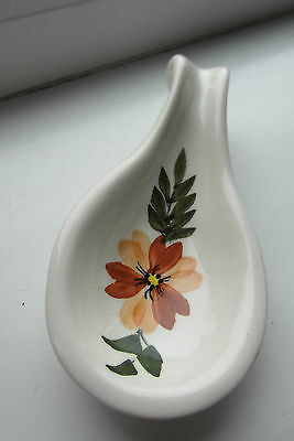 Toni Raymond Spoon Rest Orange Floral British
