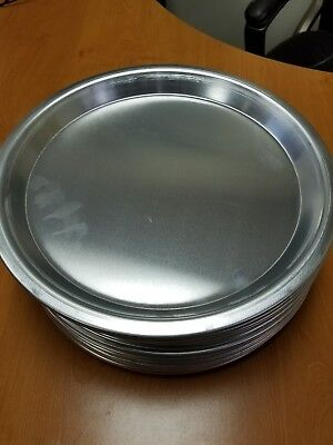 "Aluminum Tapered  Round Pizza,Bake Tray Pan 13""outer,11""inner,1""h Lot of 12"