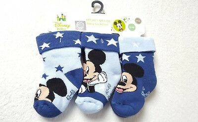 MICKEY MOUSE BABY  Thermo -Söckchen Vollfrottee Größe:62/68