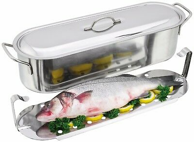 Fish Poacher Fish Kettle 45cm 7.5 litre Judge Stainless steel Fish poaching pan