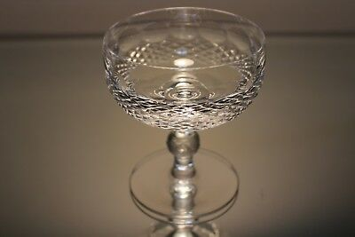 WATERFORD crystal COLLEEN short stem Champagne Tall Sherbet Glass - 4-3/8""