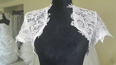 White and Ivory Bridal Jacket Lace Applique For Beauty Bridal Dress