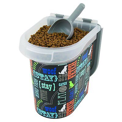 Best Small Dry Dog Food Storage Bin Container Box With Pet Measuring Scoop
