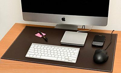 Computer Leather Desk Pad, Stylish Mat Cover, Reversible Color Design Brown To