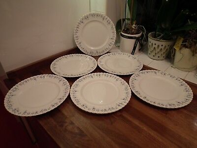 Royal Albert China Memory Lane Pattern Dinner Plates 10.25 Inch Diameter Qty 6