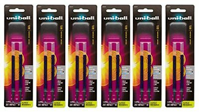 Uni-ball Signo Impact 207 Refills, Blue Ink, 1.0 Mm Bold Point, 6 Packs of