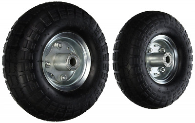 "10"" and 3"" Air Tires 2 Pcs Dolly Golf Cart Wheel Replacement Black 30PSI 300Lb"
