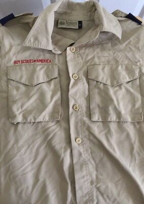 Boy Scout Official Shirt Uniform Youth Small Tan Short Sleeve