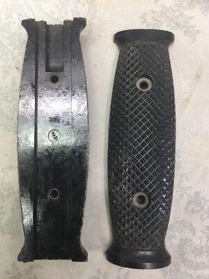 2 VINTAGE1966 Original US Army M7~R.H.HANDLE GRIPS~Fixed Blade Knife Scabbard