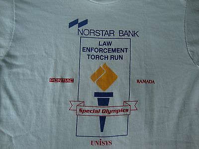 Vintage Special Olympics Law Enforcement Torch Run Police Marathon T Shirt M