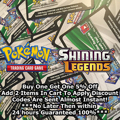 50 Shining Legends Codes Pokemon TCG Online Booster Sent Almost Instantly