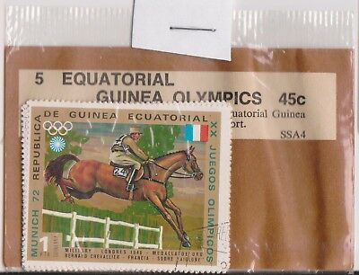 (V1-37) 1972 Equatorial Guinea old stamps pack 2 stamps Olympics