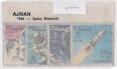 (V1-54) 1966 AJMAN old stamps pack 4 stamps space (BC)