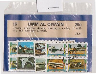 (V1-59) 1970s QIWAN old stamp packs 12 stamps planes (BH)