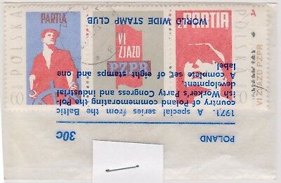 (V1-48) 1971 Poland old stamps pack 6 stamps congress (AW)
