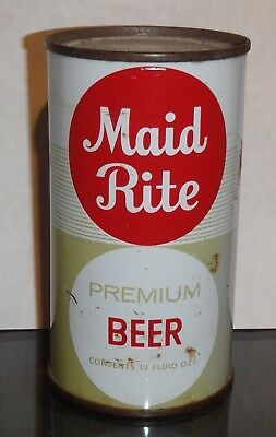 Maid Rite Flat Top Beer Can Grace Brothers Santa Rosa California Bottom Opened