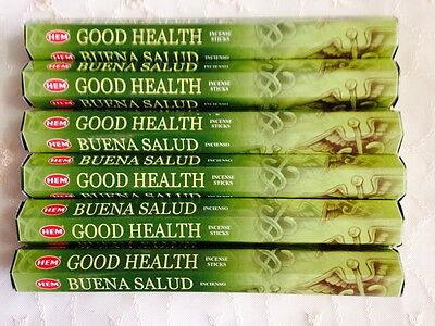 Aussie Stock GOOD HEALTH HEM Incense 6 Packs of 20 Sticks Fresh Total 120 Sticks