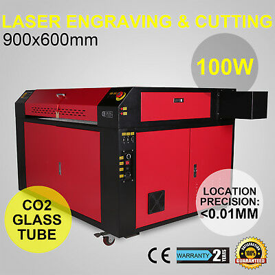 Co2 Laser Engraving Engraver Machine 100w Artwork Cutting 900x600mm Usb Port