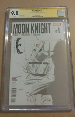 Moon Knight #1 Signed and sketched by series artist Greg Smallwood CGC 9.8