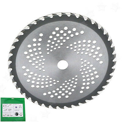 40 Tooth Carbide Blade For Brush Cutter Strimmer 25.4mm Bore Diameter 10'' Steel