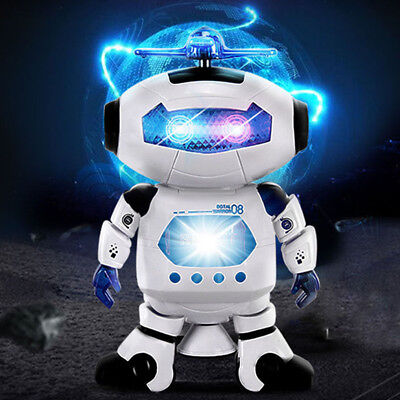 Electronic Walking Dancing Smart Space Robot Astronaut Music Light Toy US Stock