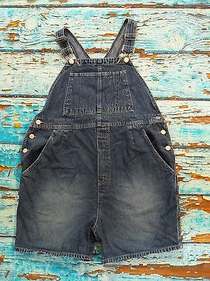 Motherhood Overall Bib Shorts Denim Blue Jeans 100% Cotton Romper Womens Size M