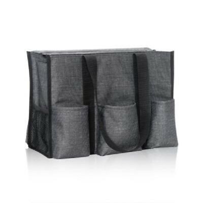 NEW Thirty one zip top Organizing Utility tote shoulder bag 31 gift in black